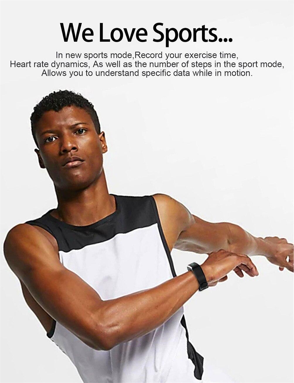 Hff3b0ed81edd445d9145ec0ea0800880Y 2020 Smart Wristband Fitness Bracelet Blood Pressure Measurement Smart Bracelet Heart Rate Waterproof Pedometer Smart Band Watch