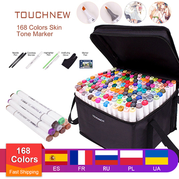 touchnew 40 60 80 168 colors graphic marker pens set sketch manga art student markers white pen Art Drawing Marker Pen , TOUCHNEW 40 60 80 168 Colors Alcohol Graphic Art Sketch Twin Marker Pens Gift sketchbook for painting