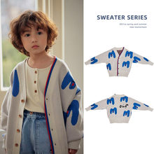 Kids' Knitwear Boys Girls' Cardigans Spring and Autumn Clothes Casual Korean Style Cardigans New Arrival INS Trend 2021