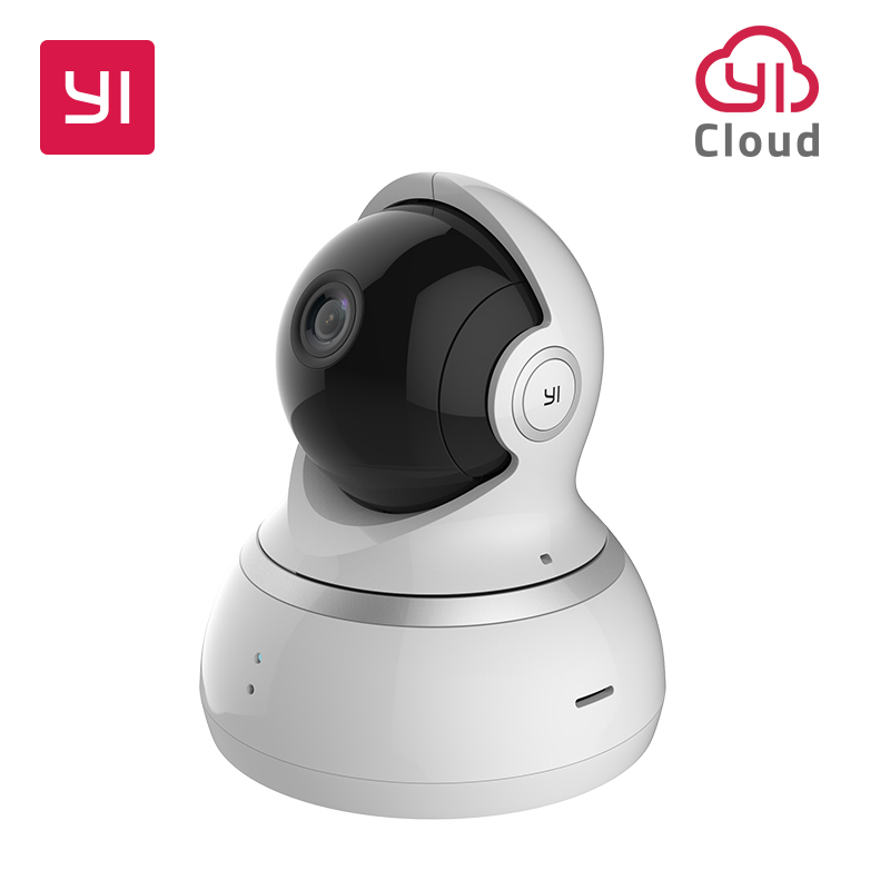 YI 1080P Dome Camera Night Vision International version Pan / Tilt / Zoom Trådlös IP-säkerhetsövervakning YI Cloud tillgänglig