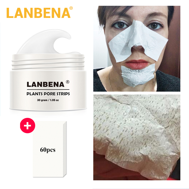 Lanbena Blackhead Remover Nose Mask Pore Strip Black Mask Peeling Acne Treatment Black Deep Cleansing Skin Care