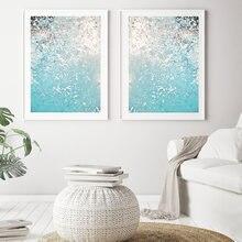 Современное настенное искусство пейзаж Картина на холсте океан