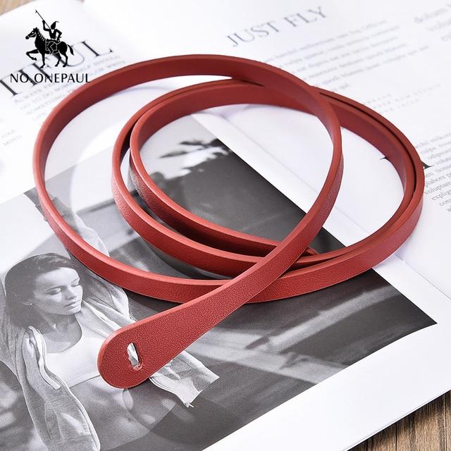 NO.ONEPAUL the belt for women Simple dress decorated  elegant belt fashion designer design slim waist high quality women belts 8