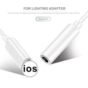Image 4 - Para relâmpago para 3.5mm adaptadores fone de ouvido jack cabo para iphone x 7 8 plus 3.5mm áudio usb conversor de fone de ouvido adaptador de telefone
