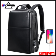 BOPAI 2021 Neue Rucksack Herren 15,6 zoll Laptop Business Notebook Mochila Wasserdichte USB-Lade Tasche Reise Outdoor Männlichen Rucksack