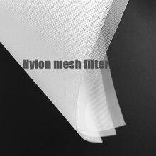 цена на fine mesh strainer nylon 80/120/150/200/300/400/500mesh filter 10 micron filter water milk nut oil fruit juice mesh filter cloth