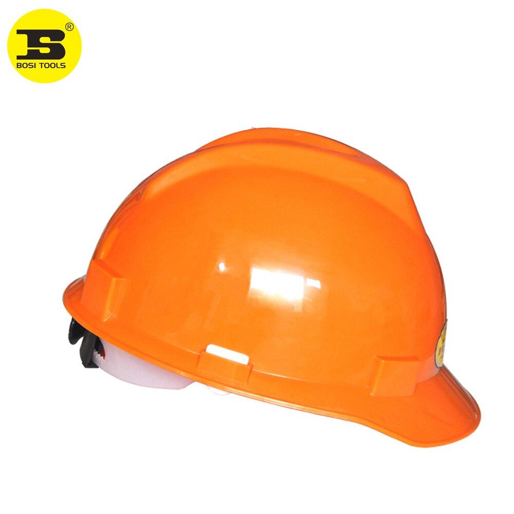 BOSI Construction Safety Hard Hat Cap Helmet 4 Point Suspension