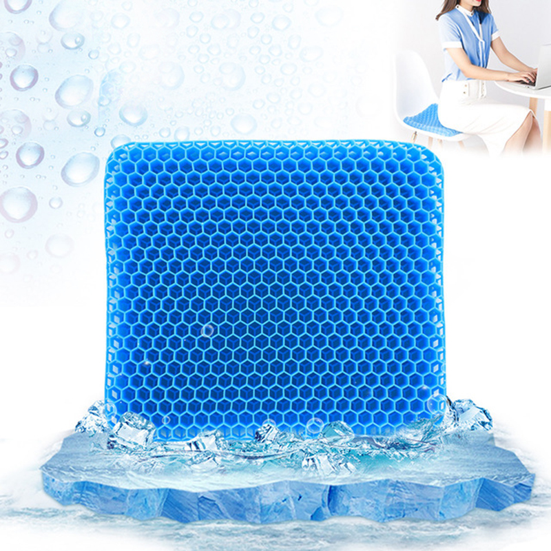 Elastic Gel Seat Cushion TPE Silicone Cooling Mat Egg Support Non Slip Summer Ice Pad Chair Car Office Seat Cushion image