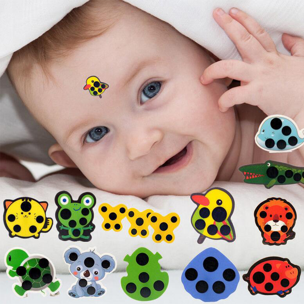 5Pcs Infant Baby Fever Forehead Strip Head Temperature Test Thermometer Sticker