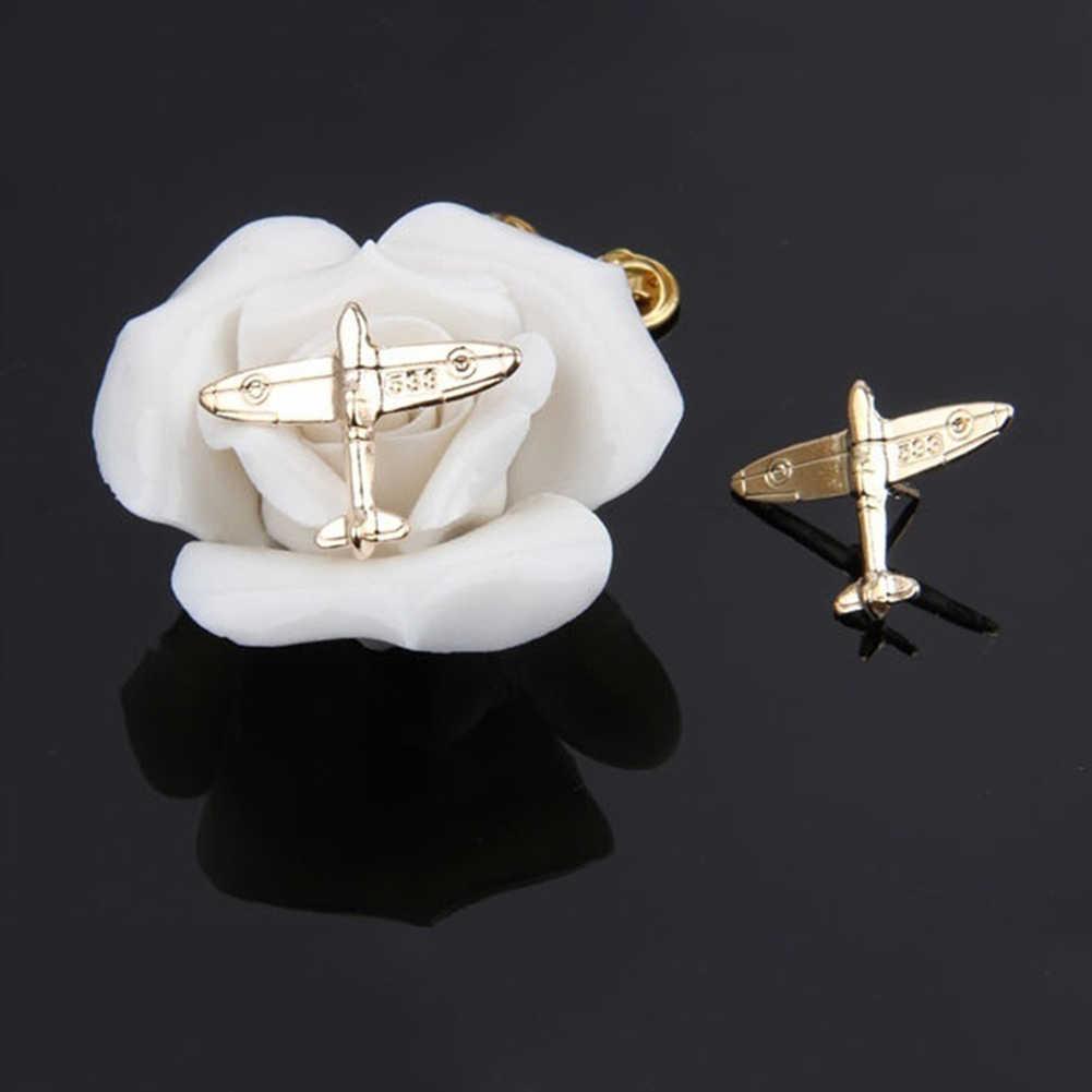 Unisex Fashion Aircraft Form Brosche Pin Anzug Hemd Kragen Abzeichen Zubehör Geschenk minimalistischen schmuck Valentinstag geschenk