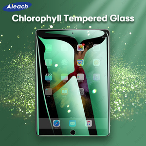 Chlorophyll Anti Blue Ray Screen Protector For iPad Pro 11 2020 Pro 10.5 9.7 5th 6th 10.2 7th Air 1 2 3 mini 4 5 Tempered Glass(China)