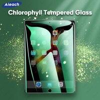 Chlorophyll anti azul ray protetor de tela para ipad pro 11 2020 pro 10.5 9.7 5th 6th 10.2 7th ar 1 2 3 mini 4 5 vidro temperado|Protetores de tela p/ tablet| |  -