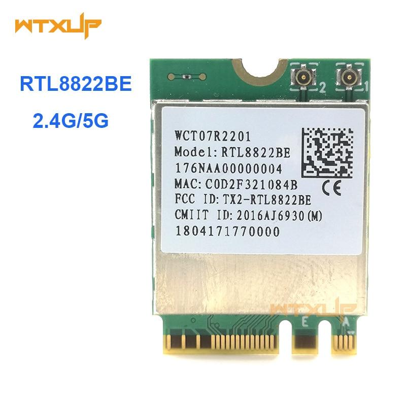 Realtek RTL8822BE 802.11ac 2,4G/5 ГГц WiFi Bluetooth 4,1 NGFF беспроводной адаптер M.2 WIFI карта