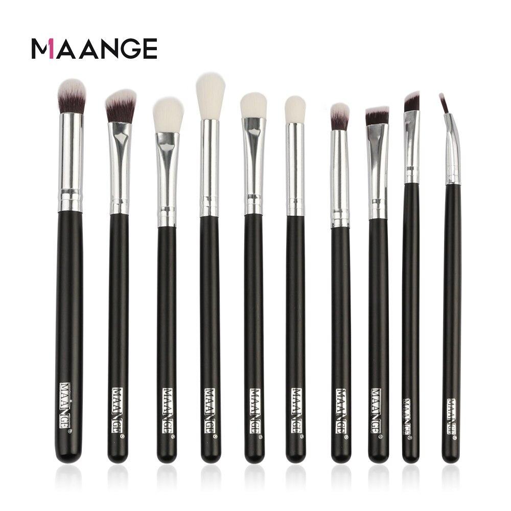 MAANGE 6/10pcs Makeup Brushes Set Pro Powder Eyeshadow Eyeliner Eye Brow Blend Concealer Shading Make Up Brush Cosmetic Tool Kit
