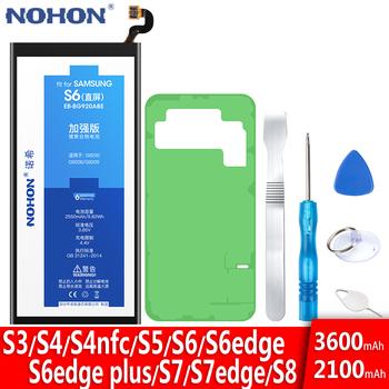NOHON baterii do Samsung Galaxy S5 S6 S7 S8 S3 S4 NFC S7 S6 krawędzi Plus G950F G930F G920F G900F G925F G935F i9300 i9500 Bateria tanie i dobre opinie 3501 mAh-5000 mAh Kompatybilny MSDS ROHS EB-BG900BBC EB-BG920ABE EB-BG925ABE EB-BG930ABE EB-BG935ABE For Samsung Galaxy S3 i9300 i9305 i879 T999 i9082