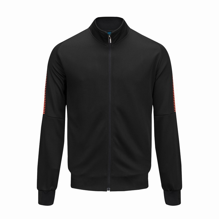 Printed Black Sports Jackets Autumn And Winter Outdoor Clothing Football Training Long-sleeve Suit Team Jersey Printed Words