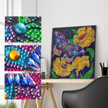 Butterfly 5D DIY Round Diamond Picture Painting Kit Home Stitch Gift Mosaic Embroidery Decoration Year New Cross Diamond L4Z1