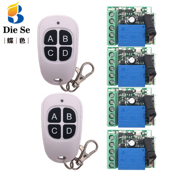 433MHz Wireless Universal Remote Control DC 12V 1CH rf Relay Receiver and Transmitter for remote switch Door/garage/motor.