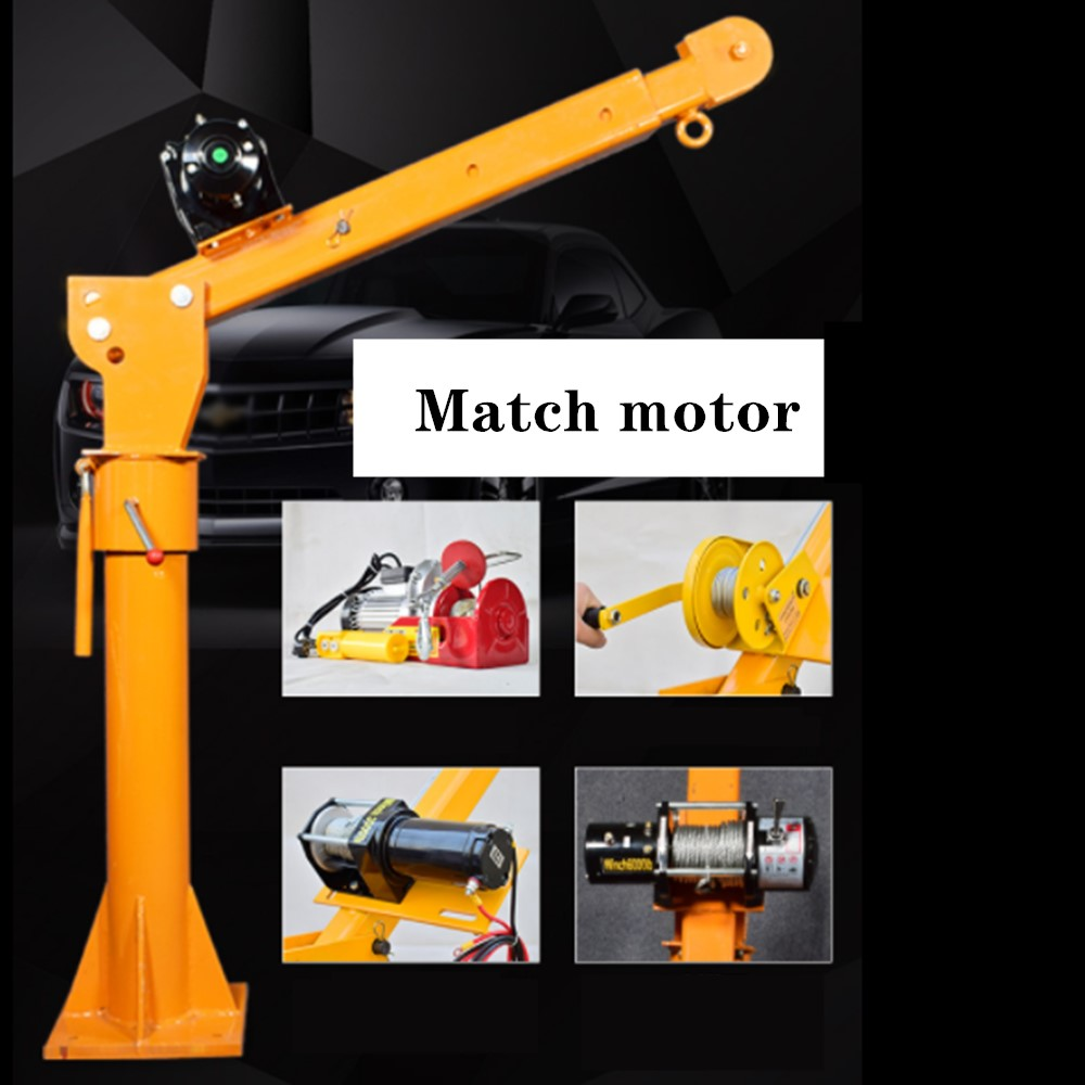 Electric Hoist 0.5 Ton 12V Electric Winch 3000 Lbs Small Truck Crane