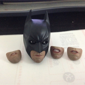 """1/6 Scale Model Batman Bruce Wayne Head sculpt carving with 4 mouth and mask eye could action For 12"""" Male Figure Body Doll"""