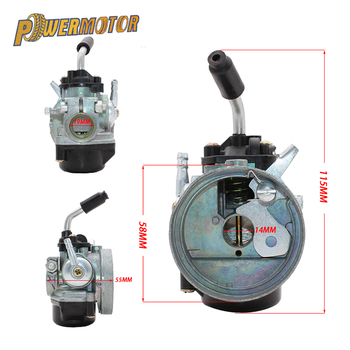 Motorcyle 14mm Carburetor 37cc Water Cooled Carb Modify For 43 47cc 49cc 2-Stroke Mini Moto Pocket bike Dirt Pit Bike ATV Quad