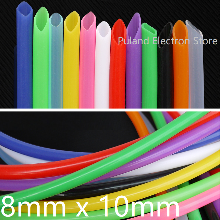 Silicone Tube ID 8mm X 10mm OD Flexible Rubber Hose Thickness 1mm Food Grade Soft Milk Beer Drink Pipe Water Connector Colorful