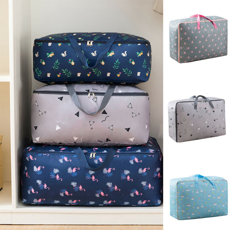 NoEnName-Null Waterproof Home Clothes Quilt Pillow Blanket Storage Bag Foldable Travel Luggage Organizer Bag