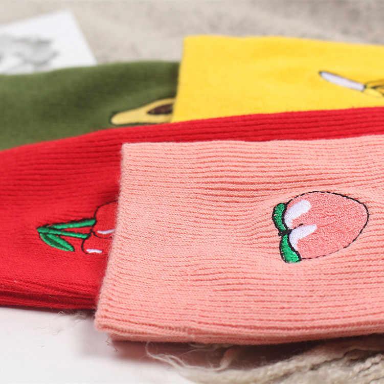 Harajuku banana Freddo Skateborad Breve Arcobaleno Calzino di Arte del Cotone di Modo Pantaloni A Vita Bassa Del Fumetto Alla Caviglia Color Calzini e Calzettoni Femminile SA-8