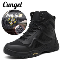 Tactical Shoes Men Outdoor Hiking Boots Men Antiskid Tactical Boots Outdoor Mountain Climbing Sports Shoes for Outdoor Trekking