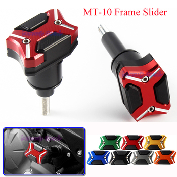 1 Pair Motorcycle Falling Protection Frame Slider Fairing Cover Anti Crash Pad Protector CNC Frame Sliders For Yamaha MT-10 Mt10