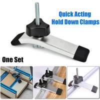 Ferramentas para trabalhar madeira de ação rápida segure para baixo as braçadeiras segurar o dispositivo para t entalhe t tracks novo|Acessórios e ferramentas de levantamento| |  -