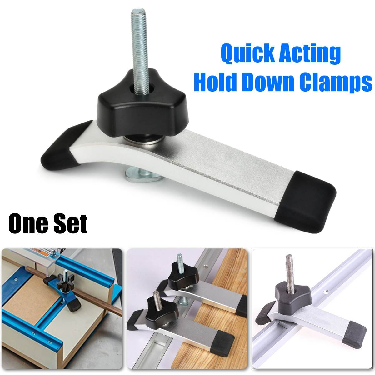 Woodworking Tools Quick Acting Hold Down Clamps Hold Down Device For T-Slot T-Tracks New
