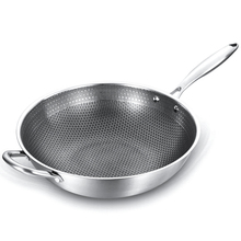 Stainless Steel Wok Uncoated Non-stick Pan ,Frying Pan ,Gas And Induction Cooker