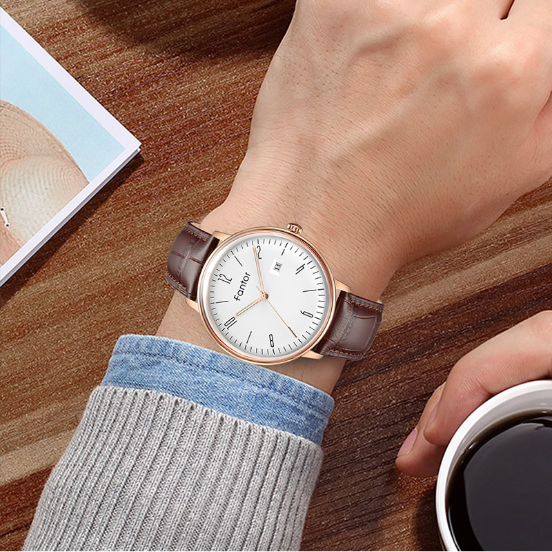 Image 5 - Fantor Business Men Watch Top Brand Luxury Classic Man Genuine Leather Waterproof Men's Quartz Wristwatch Date Luminous Hand-in Кварцевые часы from Ручные часы on AliExpress - 11.11_Double 11_Singles' Day