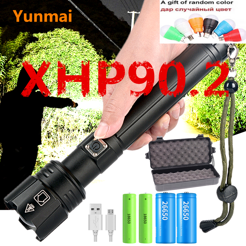 2020 XHP90.2 XHP70.2 LED Flashlight Torch Most Powerful ZOOM Flashlight 26650 USB Torch Lantern 18650 Hunting Lamp Hand Light