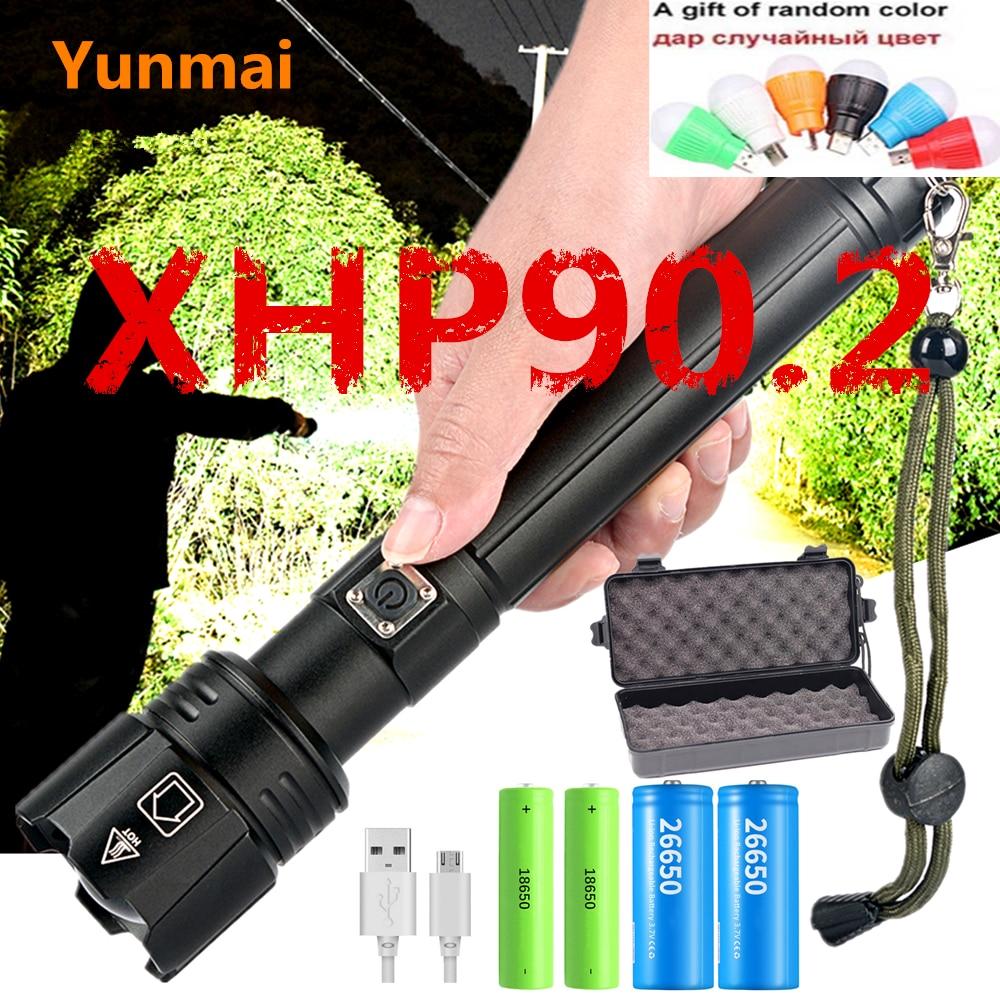 2020 XHP90.2 XHP70.2 LED Flashlight Torch Most Powerful ZOOM Flashlight 26650 USB Torch Lantern 18650 Hunting Lamp Hand Light