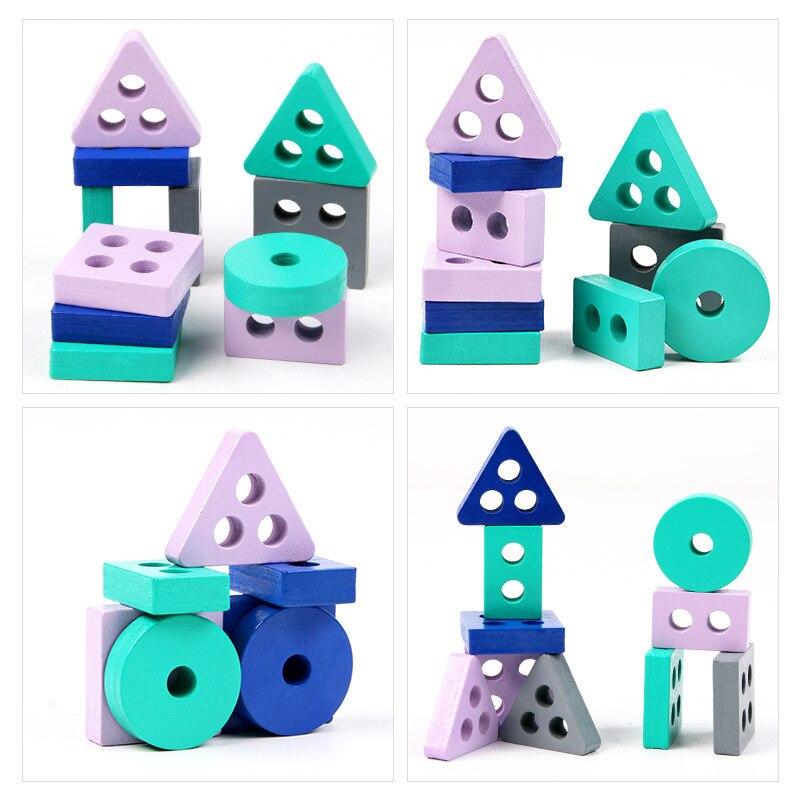 Детская развивающая математическая игрушка Монтессори, деревянные мини-круги, шариковый лабиринт, американские горки, пазл, игрушки для детей, подарок для мальчиков и девочек 5