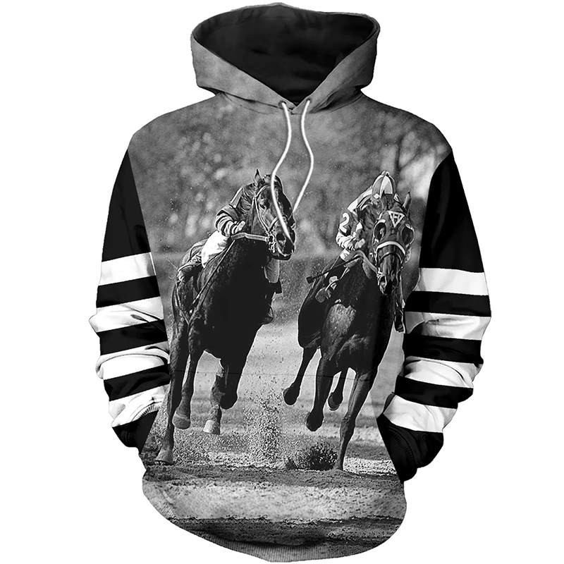 PLstar Cosmos animal Champion medal horse racing 3d hoodies/Sweatshirt Winter autumn long selvee Harajuku streetwear-10