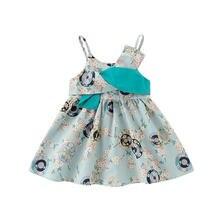 Dfxd новое летнее платье слинг для маленьких девочек модное