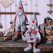 New Arrival Lovely Gnome Plush Doll Toy Cloth Dwarf Santa Christmas festival atmosphere Home Decoration Europe Style Gift