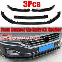 High Quality Car Front Bumper Splitter Lip Body Kit Spoiler Diffuser Guard Protecor Cover Trim For VW For Passat B7 2012 2015