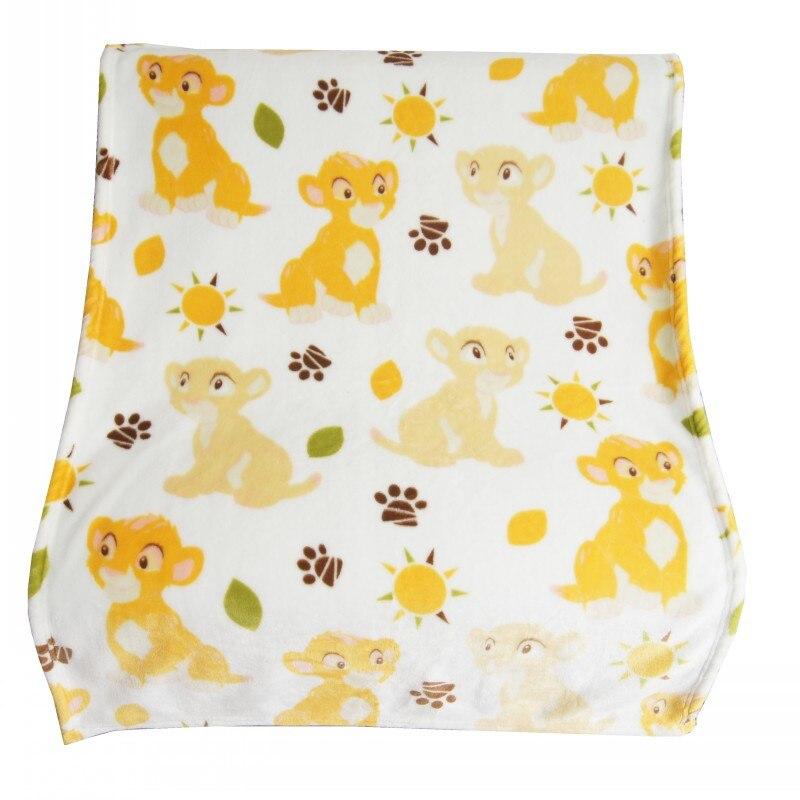 Disney Super doux couverture Simba Lion roi Nala jeter pour bébé filles garçons Mickey Mouse Animal de compagnie chien chat Animal dormir jeter