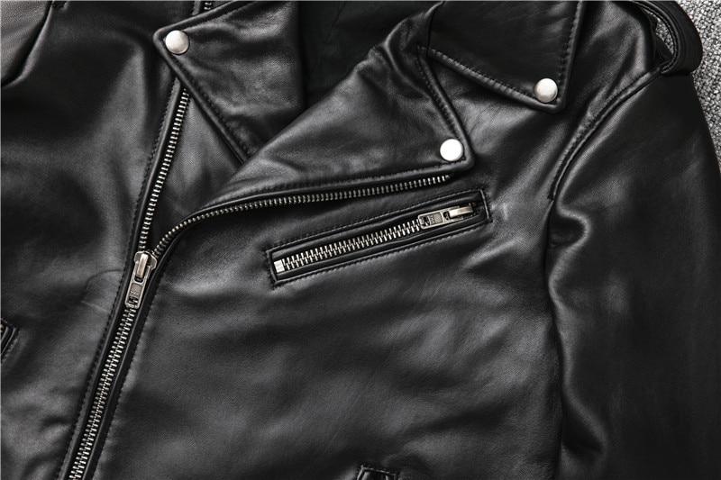 Hff3d9bfb90e0478f81d256b1772b094bd Free shipping,Sales!Brand new genuine leather jacket.mens motor biker sheepskin coat.slim plus size jackets.leather outwear