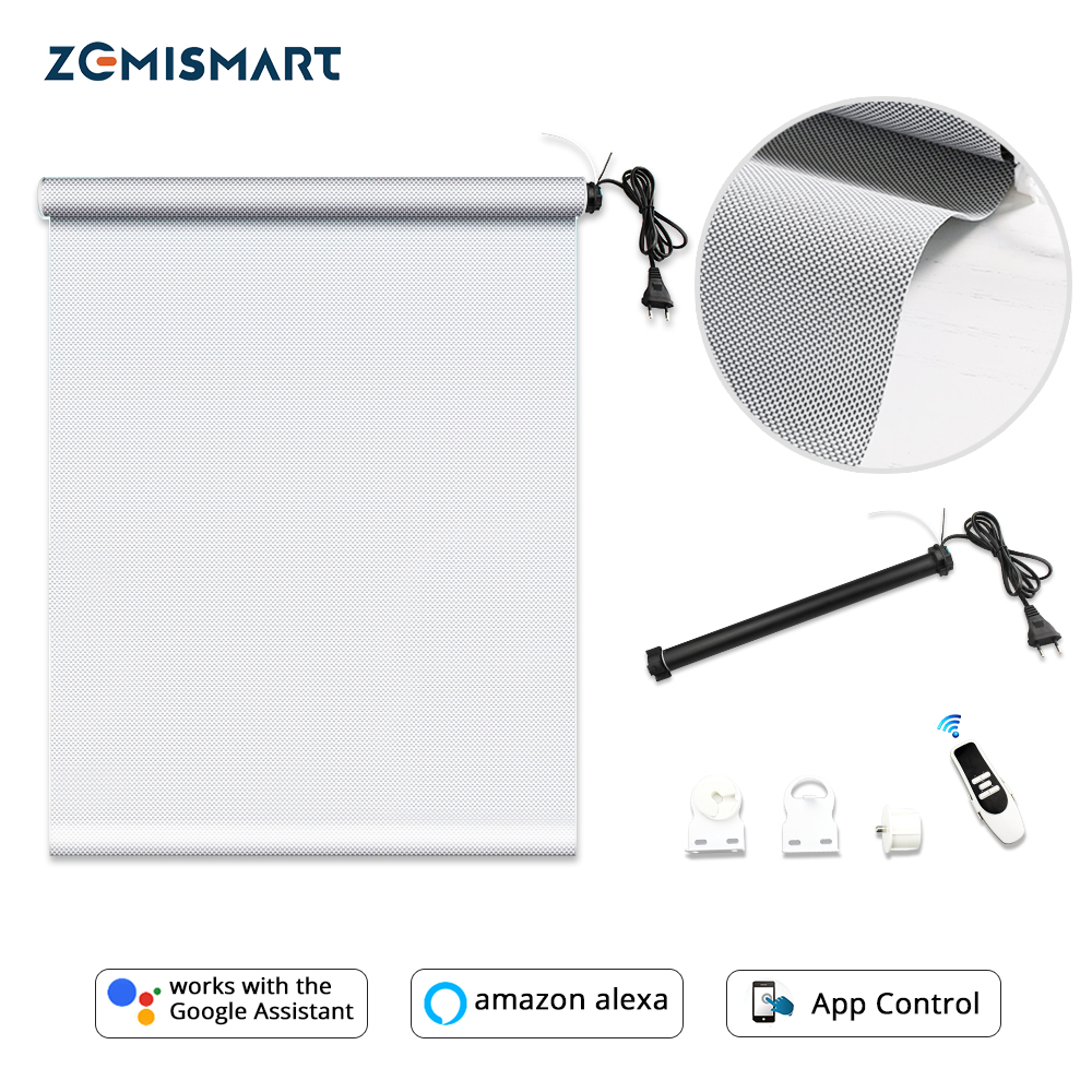 Zemismart Automatic Roller Shutter Tubular Motor With Sunshade Curtain Fabric Tracket Smart Life Tuya Alexa Google Home Control