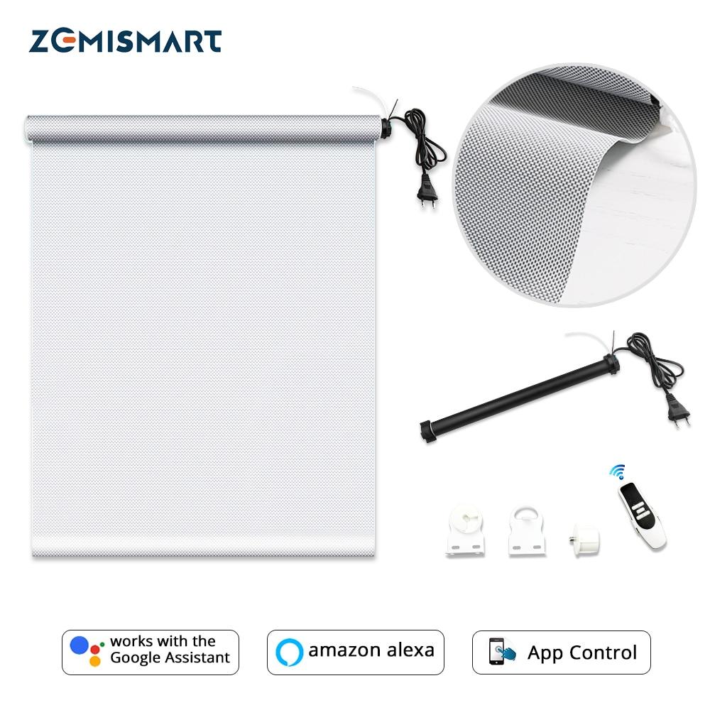 Zemismart Automatic Roller Shutter Tubular Motor With Sunshade Curtain Fabric Tracket Smart Life Tuya Alexa Google Home Control