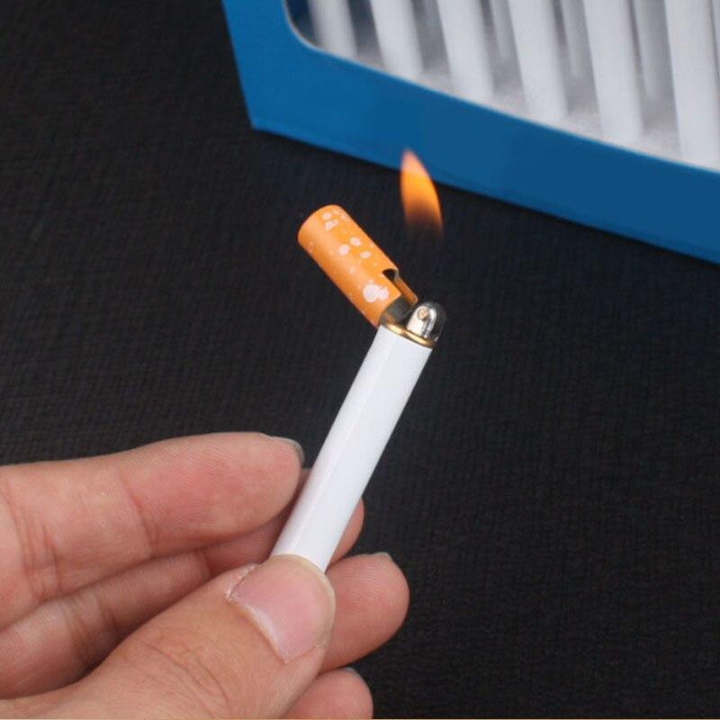 Minimechero de Metal con forma de cigarrillo, mechero recargable a Gas butano, rectificador portátil, mechero para exteriores, Herramientas sin Gas Accesorios de cigarrillos    - AliExpress