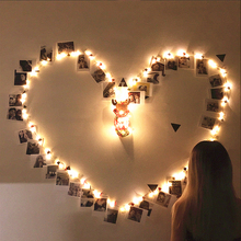 LED Night Light USB Girl's Bedroom Decor Fairy Lights With Photo Clips Garland Christmas Wedding Party Brithday Night Lamp