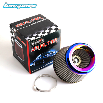 Burnt Blue 3 76mm Power Intake High Flow Cold Air Intake Filter Cleaner Racing Car Air Filter car air filter 76mm 3 inch high flow car cold air intake filter aluminum non woven fabric rustproof air intake hose universal