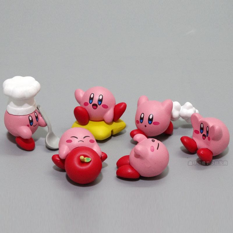 Star Kirby /'s Dream Land 6 PCS Cute Cartoon Action Figure Kids Toy Doll Gift