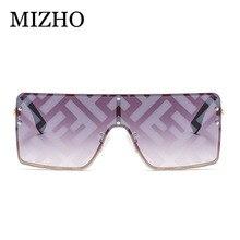 MIZHO 2020 F Letter Design Rimless Sunglasses Women Brand Sq